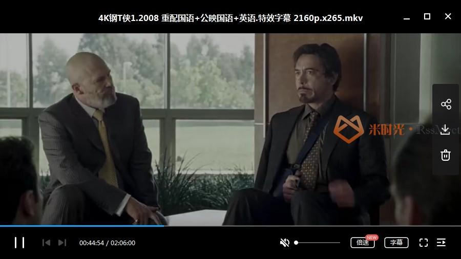 漫威《钢铁侠1-3》部[高清4K]百度云网盘下载[MKV/37.1GB[国英双语特效中字]-米时光