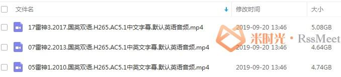 漫威电影《雷神》系列3部超清英语中文字幕合集[MP4/14.46GB]百度云网盘下载-米时光