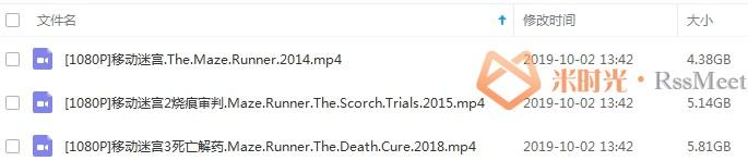 《移动迷宫》第1-3部合集百度云网盘下载英语中文字幕[MP4/15.33GB]-米时光