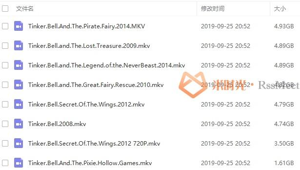 《奇妙仙子》小叮当(Tinker Bell)百度云网盘下载7部蓝光合集[MKV/34.17GB]-米时光