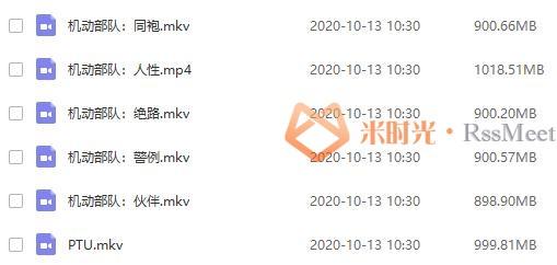 银河映像《PTU》机动部队系列六部合集[MKV/MP4/720P/5.49GB]百度云网盘下载-米时光