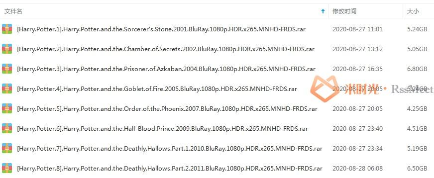 《哈利波特 /Harry Potter》系列1-8部蓝光1080P百度云网盘下载[MKV/42.80GB]国英双语中字-米时光