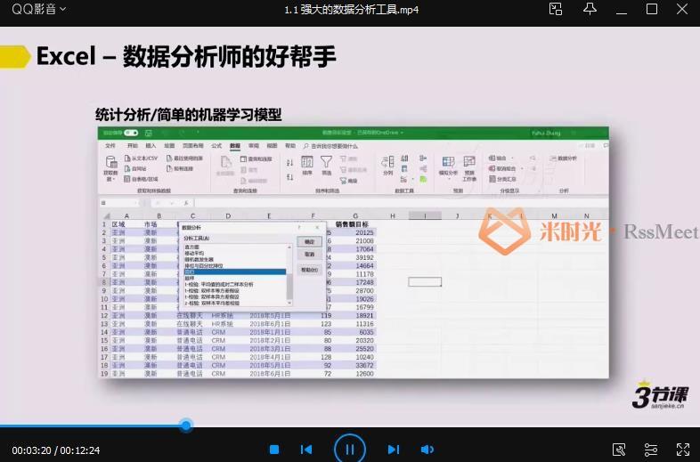三节课张宇晖《数据分析师p1》课程合集百度云网盘下载资源(完整版)[MP4/Word/1.38GB]-米时光