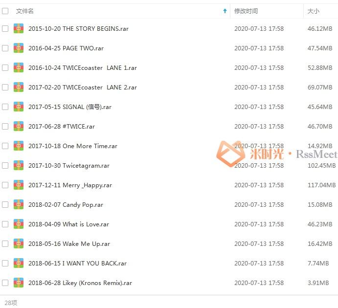 《TWICE》[28张专辑/单曲]合集百度云网盘下载资源(2015-2020)[MP3/1.32GB]-米时光