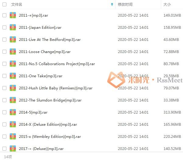 《艾德希兰/Ed Sheeran》歌曲百度云网盘下载(2010-2020年14张专辑/单曲)[FLAC/MP3/2.95GB]-米时光