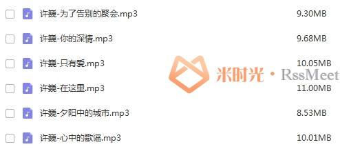 《许少年/许巍》歌曲合集百度云网盘下载(1997-2018年19张专辑/单曲/演唱会)[FLAC/MP3/5.62GB]-米时光