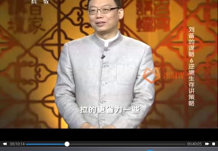 《赵玉平百家讲坛/演讲》讲座合集百度云网盘下载(8门课程)[RM/WMV/6GB]-米时光