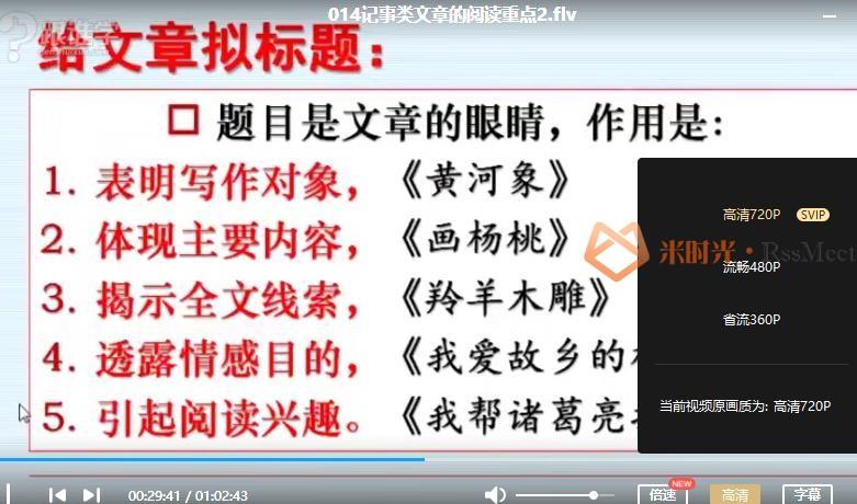 刘朝阳-《20节课突破阅读理解重难点》视频课程合集百度云网盘下载(完整版)[FLV/5.31GB]-米时光