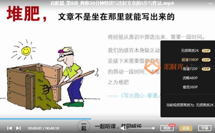 彭小六《普通人业余时间让收入翻10倍的学习方法》视频课程合集百度云网盘下载[MP4/1.29GB]-米时光