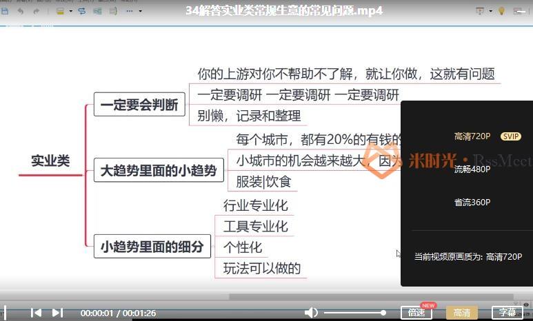 《24套赚钱生意经》视频课程合集百度云网盘资源分享下载[MP4/1.60GB]-米时光