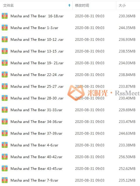 俄罗斯动画《玛莎和熊》高清百度云网盘资源分享下载[MP4/720P/3.49GB](中字无水印)-米时光
