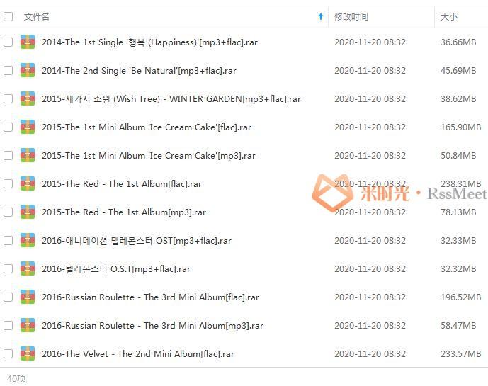 《红色天鹅绒/Red Velvet》[26张专辑/单曲]歌曲合集百度云网盘下载[FLAC/MP3/4.19GB]-米时光