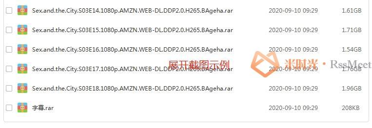 美剧《欲望城市》第1-6季全集百度云网盘下载资源[MKV/1080P/143.18GB](外挂中字无水印)-米时光