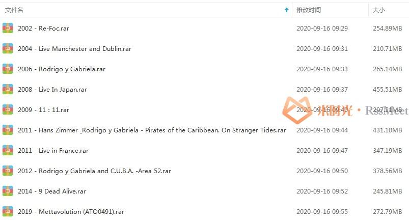 速弹吉他二人组《Rodrigo/Gabriela》歌曲合集百度云网盘资源分享下载(2002-2019年10张专辑)[MP3/3.08GB]-米时光