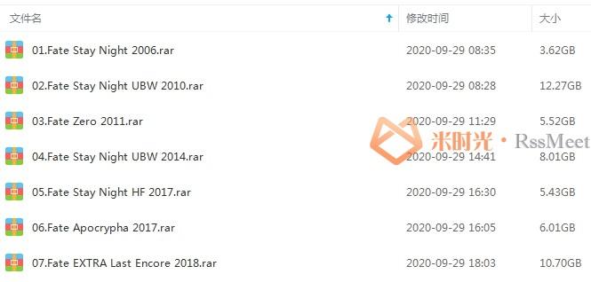 《命运之夜!Fate》系列动漫合集百度云网盘资源分享下载[MKV/1080P/51.56GB]-米时光