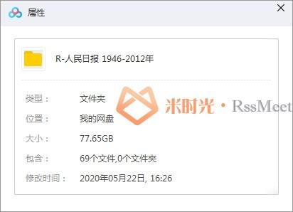 《人民日报》(1946-2012)电子版合集百度云网盘下载[PDF/77.65GB]-米时光