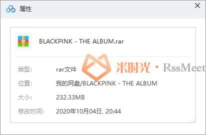 BLACKPINK(粉墨)新专辑《THE ALBUM》百度云网盘资源分享下载[FLAC/MP3/232.33MB]-米时光