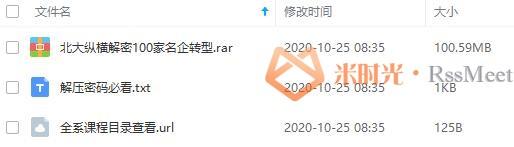 《中国百家名企转型兴衰录》百度云网盘资源分享下载[MP3/100.59MB]-米时光