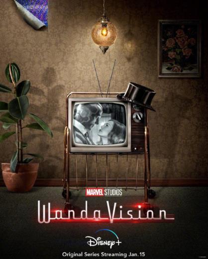 《旺达幻视》将于2021年1月15日登陆Disney+,日前发布概念海报-米时光