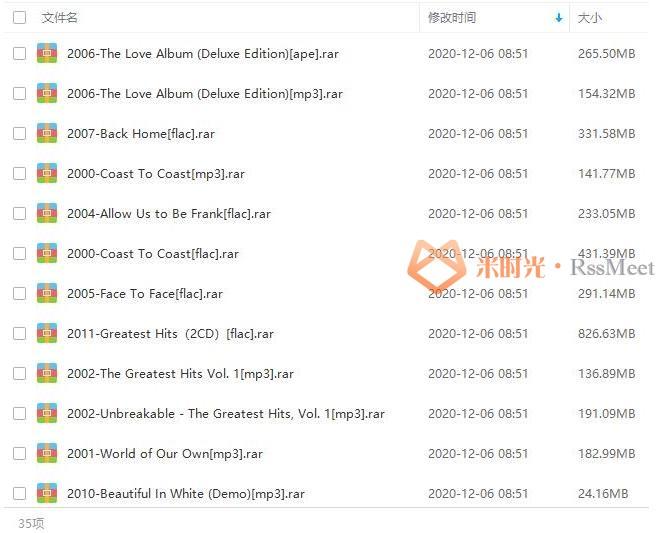 《西城男孩/Westlife》[21张专辑]歌曲合集百度云网盘下载[APE/FLAC/MP3/7.36GB]-米时光
