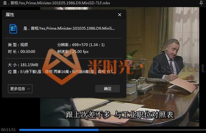 《是,首相/Yes, Prime Minister》第1-2季高清百度云网盘下载[MKV/9.34GB]英语中字-米时光