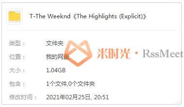 The Weeknd《The Highlights (Explicit)》专辑歌曲百度云网盘下载[FLAC/MP4/1.04GB]-米时光