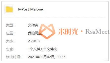 《波兹马龙/Post Malone》歌曲专辑[6张]百度云网盘下载[FLAC/MP3/2.79GB]-米时光