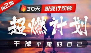 《超燃计划:30天蜕变行动营,干掉平庸的自己》视频MP4百度云网盘下载[1.32GB]-米时光
