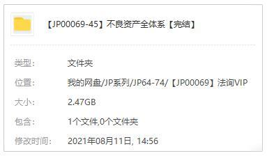 不良资产全体系视频课程百度云网盘下载[MP4/2.47GB]-米时光
