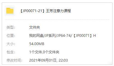《王芳注意力课程》音频MP3百度云网盘下载-米时光